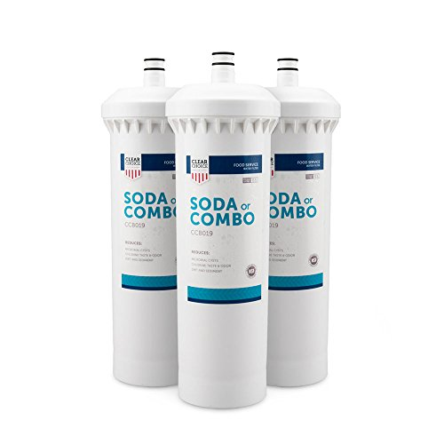 Clear Choice Soda Fountain Filtration System Replacement Cartridge for CUNO 55817-05 CFS8112 Also Compatible with Everpure EFS8002 EV9781-10, BevGuard BCG-2200, Nu Calgon 4622-20, 3-Pack