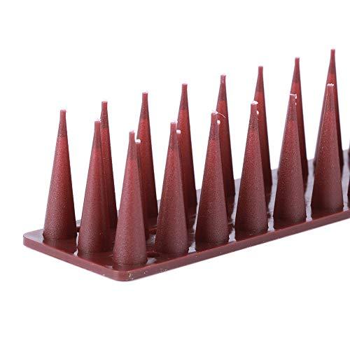 Gaeirt Prickle Strip, pincho anticorrosivo para disuasión de Aves, 12 Piezas para estorninos para Vallas