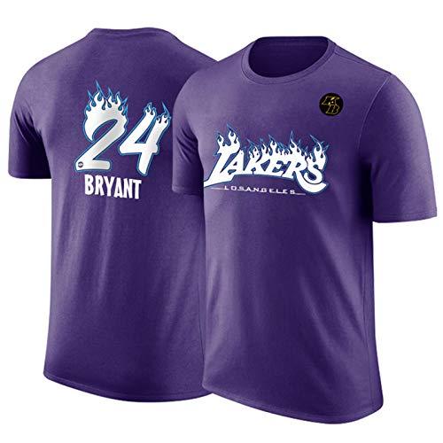 CNMDG Lakers 24# Kobe Bryant - Camiseta de baloncesto con malla Mamba para hombre, diseño de camiseta de baloncesto (M-3XL), color morado