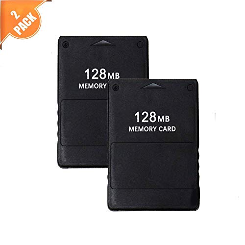 RayPuls 2Pack PS2 Memory Card 128MB High Speed Storage Memory Card for Sony Playstation 2 PS2 Games