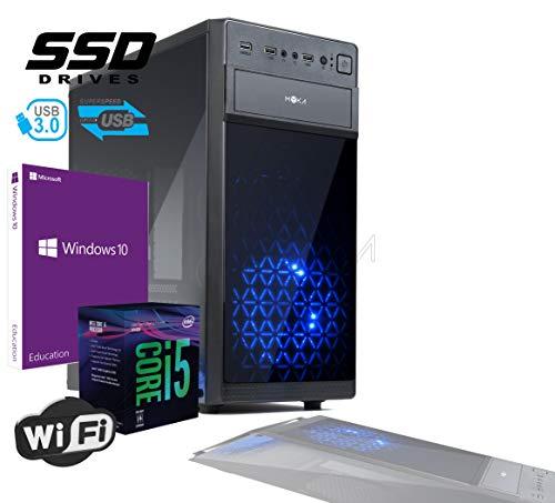 Pc Desktop INTEL I5 SIX CORE 8th gen Up To TURBO 4,0 GHZ Windows 10 PRO 64 BIT ORIGINALE CASE ATX USB 3.0 PSU 600W RAM 8GB DDR4 SSD 240GB Scheda Video UHD 4K USCITE HDMI DVI VGA WIFI 300MB DVD RW LG