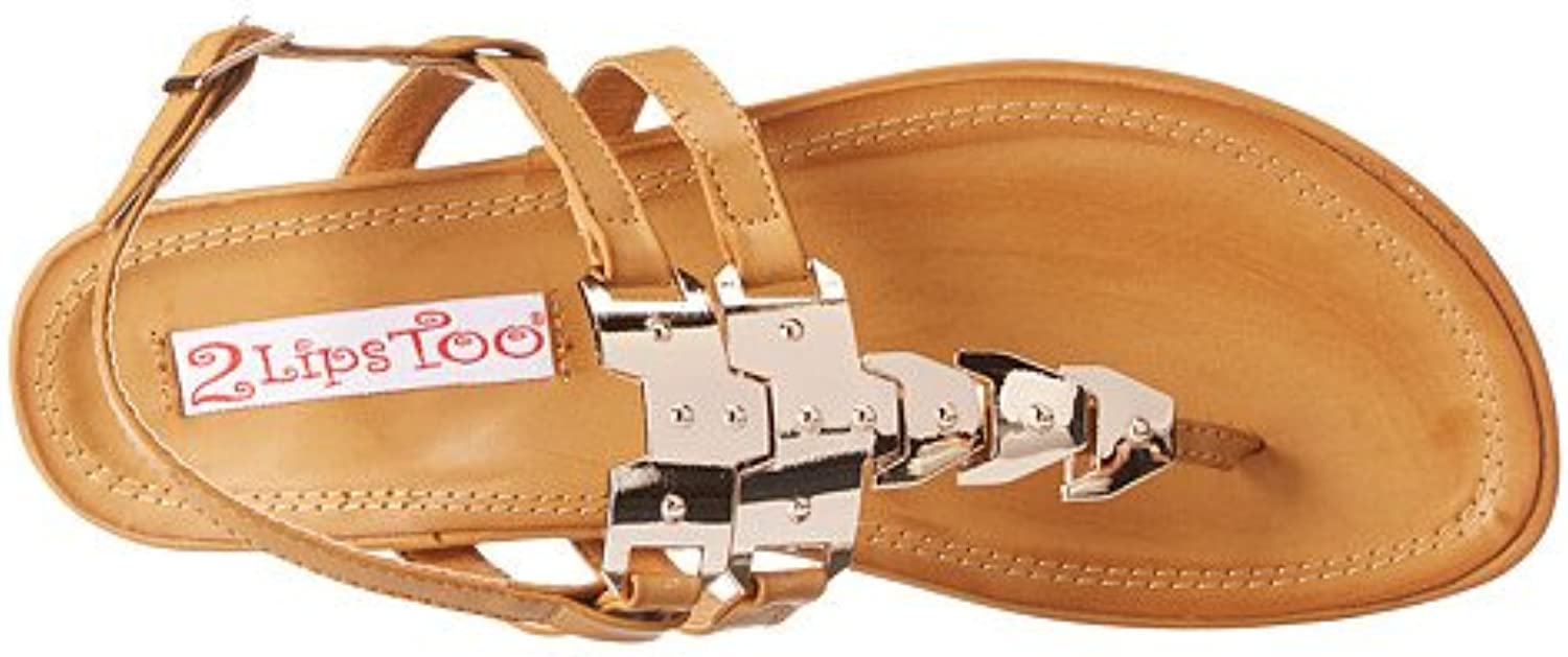 2 Lips Too Women's Too Magnetic Natural Sandal 9 M