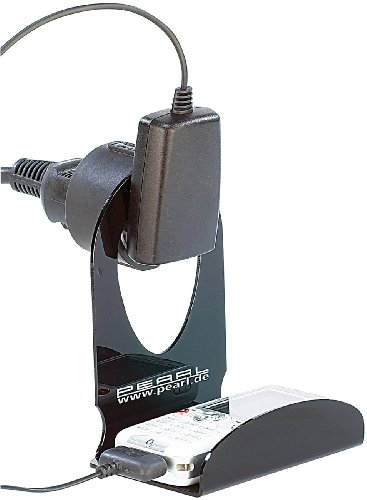 PEARL Handyhalterung Steckdose: Ultrapraktische Universal-Ladehalterung für Handys, MP3-Player u.v.m. (Handyablage Wand)