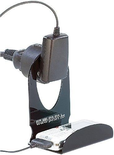 PEARL Handyhalter Steckdose: Ultrapraktische Universal-Ladehalterung für Handys, MP3-Player u.v.m. (Handyablage Wand)