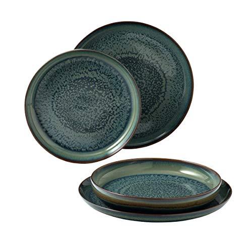 Villeroy & Boch, Crafted Breeze - Vajilla (4 piezas, porcelana), color azul