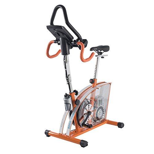 Daum ergo bike 8008 Passion inkl. Puls-Ohr-Clip und Klarsicht-Unterlegmatte 140x60cm, 9096888, Rennrad-Ergometer, Orange, mit verzinktem Rahmen