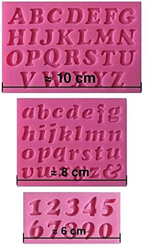 Moule silicone 3D Alphabet chiffres pour pâte à sucre, cake design, décoration...