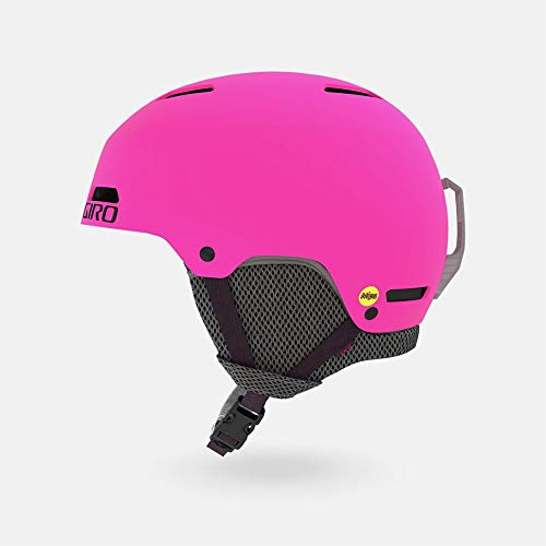 Giro Crue MIPS Jeunes Casque de Protection Unisex-Youth, Matte Bright Pink, XS 48.5-52cm