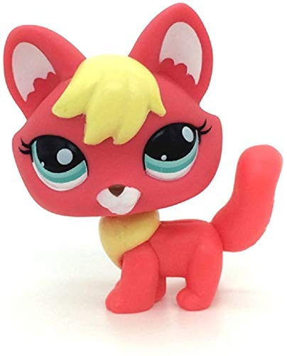 N/N Littlest Pet Shop, LPS Toy Rare Littlest Pet Shop Firefox Fox Blue Eyes Dog Lps Animal Toy