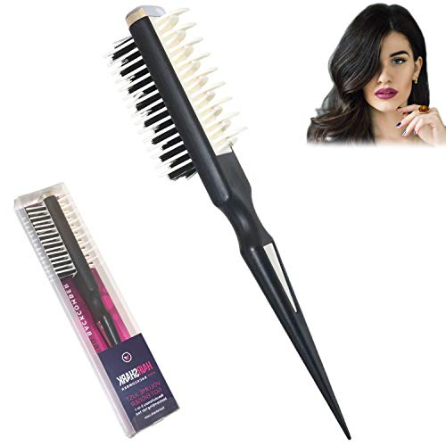 Professional Hair Style Comb,Joylike Portable Hairousels Teasing Comb with Shark Back Two-Sided Design Multifunctional Volumizer Comb Backcombing Brush for Women Men All Hair Types High Volume Comb