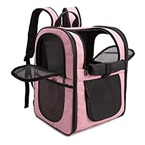 apollo walker Pet Carrier Backpack for Large/Small Cats and Dogs, Puppies, Safety Features and Cushion Back Support for Travel, Hiking, Outdoor Use (Pink)