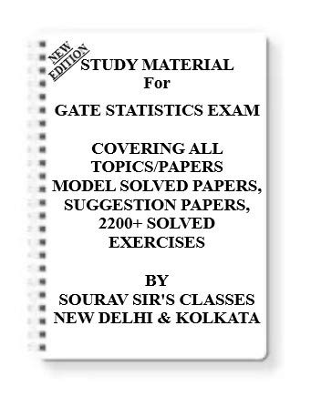 Study Materials for GATE Statistics Exam 2021