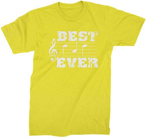 Divertido gráfico de verano notas musicales Best Dad Everer para hombre camiseta de moda elegante camisa Amarillo amarillo 3XL