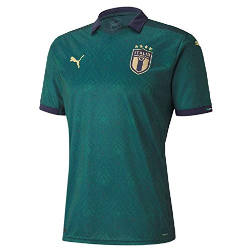 PUMA Jungen FIGC Third Shirt Replica Jr Trikot, Ponderosa Pine-Peacoat, 128