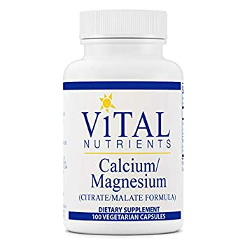 Vital Nutrients - Calcium/Magnesium  Citrate/Malate  - Cardiovascular Muscle and Bone Support - 100 Vegetarian Capsules per Bottle