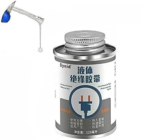 SafeGlen capa de goma aislante líquida, cinta eléctrica líquida blanca impermeable, sello aísla protege, curado rápido, cinta líquida de resistencia a altas y bajas temperaturas, 125 ml (blanco)