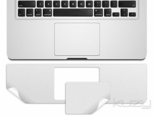 Kuzy - Retina 13-Inch Palmrest with Trackpad Skin Protector Sticker Cover Silver for Apple MacBook Pro 13.3' with RETINA Display Only Models: A1502 and A1425 (NEWEST VERSION)
