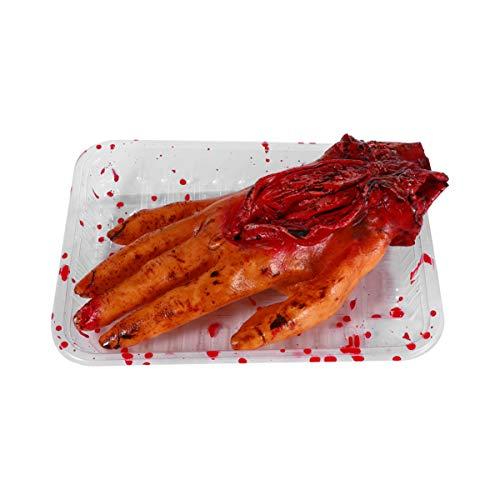TOYANDONA Gefälschte Blutige Hand Halloween Blutige Party Requisiten Halloween Orgel Requisite Oder Halloween Spukhaus Horror Gruselige Trick Spielzeug