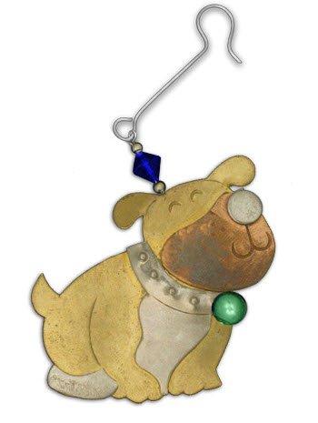 BD Holiday Collection- Bubba The Bulldog Metal Holiday Ornament