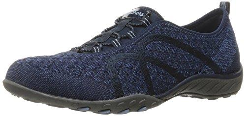 Skechers Breathe Easy - Fortune-Knit-23028, Women's Low-Top Trainers, Blue (Navy), 6.5 UK (39.5 EU)