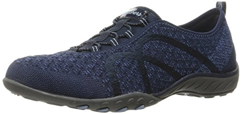 Skechers Sport Women's Breathe Easy Fortune Fashion Sneaker,Navy Knit,7.5 M US