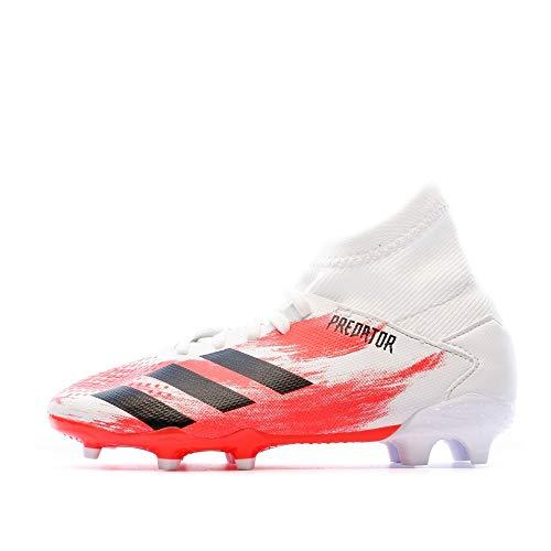 adidas Unisex-Child Predator 20.3 FG J Soccer Shoe, Weiss,37 1/3 EU