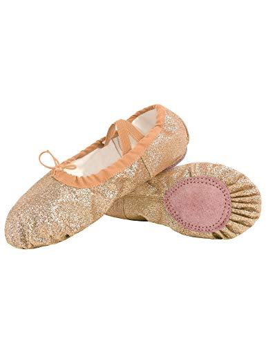 Hawiton Ballet Schoenen voor Meisjes Ballerina met Pailletten voor Gymnastiek Ballet Klassieke Dans