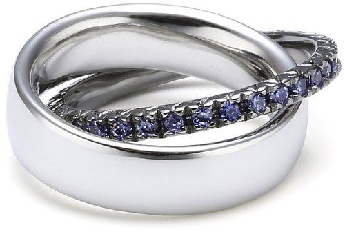 Esprit Jewels Damen-Ring Brillanz verbinden blau 925 Sterling Silber