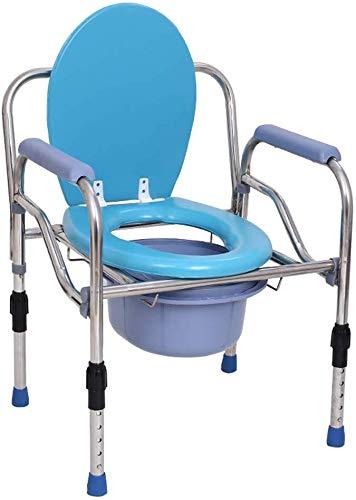 COUYY Extra breiter Nachttisch Commode Sitz 3 in 1 Leichter bariatrischer Toilettenstuhl Duschbank mit Safety Steel Frame Badezimmer Support für ältere Menschen