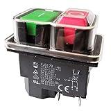 Impermeable Magnético La Seguridad Interruptores de Botón para el Banco Sierra Perforar Tornos, KJD17B 220V 4 Pines 2HP