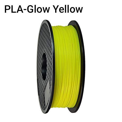 SDFW Exceptionnel Imprimante 3D PLA Filament Filament 1.75mm Précision dimensionnelle +/- 0,02 mm 1 kg 3D Matériel 2.2lbs 343 Millions Impression for RepRap dureté (Color : Glow Yellow)