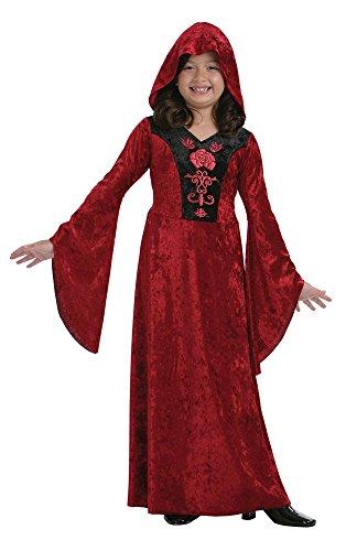 Bristol Novelty CC428 Costume de Vampire Gothique, Taille, Noir, Grand