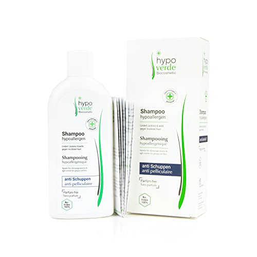 Hypoallergenes Shampoo gegen Juckreiz, Schuppen und trockene Kopf-Haut | Bei Neurodermitis, Psoriasis & Dermatitis | Naturkosmetik | Für Babys geeignet (Anti-Schuppen (250ml))