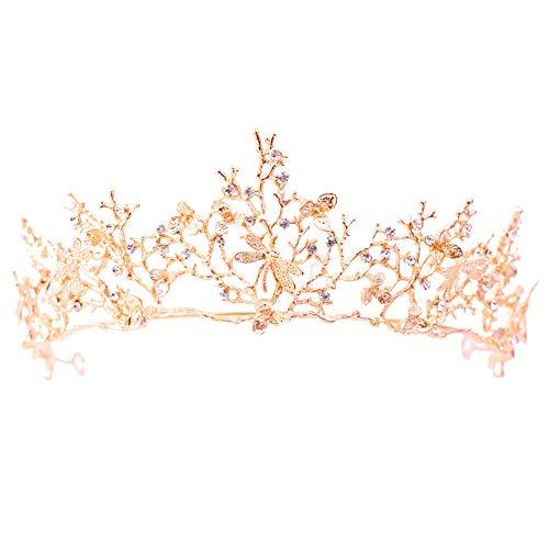 JCCOZ - URG Japanese and Korean style bridal baroque crown, European queen wedding hair accessories, wedding dress jewellery accessories, for marriage/birthday/party URG.