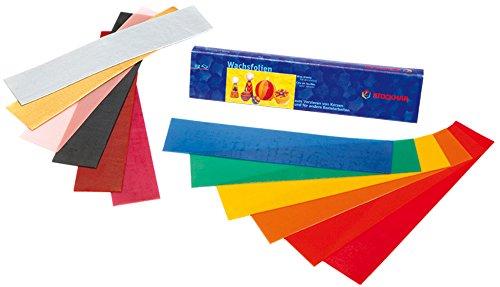 Wachsfolien - 12 Farben