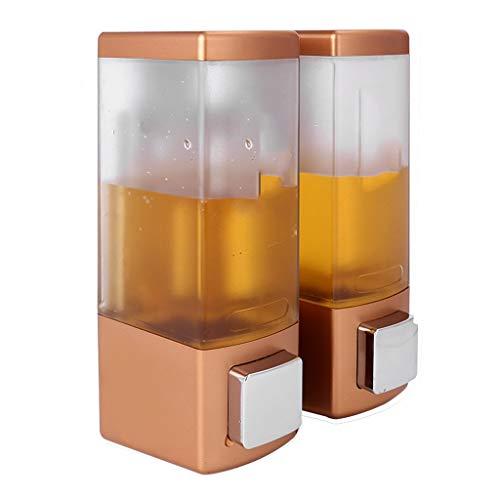 Tingting1992 Dispensador de jabón para baño Dispensador de jabón de presión Manual montado en la Pared sin Perforaciones Champú for baño de Hotel Caja de Gel de Ducha Dispensador de jabón de Cocina
