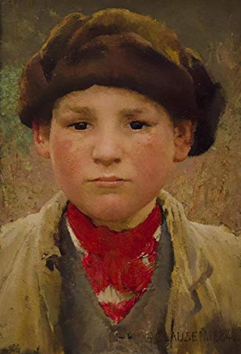 Digital Painting DIY Oil Painting Paint by Numbers Kits for Adult Kids 16X20 Inch George Clausen A Boy