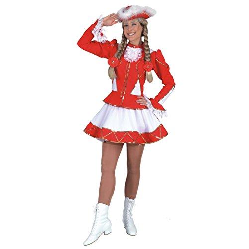 NET TOYS Rotes Funken Kostüm Damen Funkenmariechen Damenkostüm Tanzmarie Funkenkostüm Tanz Marie Tanzmariechen Kleid Funkenmariekostüm