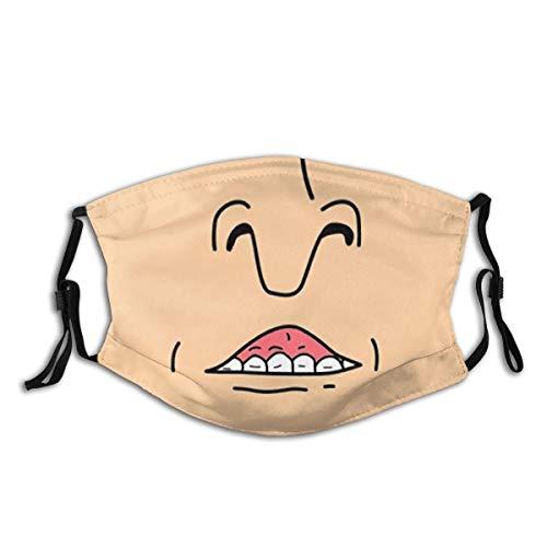 Butt Head Smile Face Guard Face Shield Face Mask Masks Washcloth Seamless 1 Free 2 Filters 1 Pcs Black