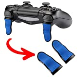 eXtremeRate L2 R2 Buttons Extention Trigger, Soft Touch Grip Extenders, Game Improvement Adjusters for Playstation 4 PS4 Pro PS4 Slim Controller 1 Pair - Blue Black