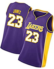 James James 男式籃球運動衫 湖人隊 Lakers 23#,復古刺繡無袖背心,夏季涼爽透氣籃球托
