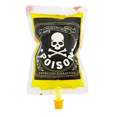Contenedor de Bebidas de Halloween Cosplay Botella de Agua Decoraciones Cráneo Tipo de Sangre Accesorios de Bolsa de energía Positiva Bebidas de Zombis Bolsas de Bebidas (Color : Skull)
