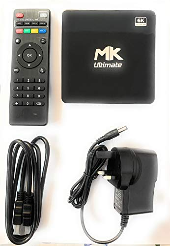 Mk Ultimate Android Smart TV Box-Intelligent 6k Ultra HD Media Player works with TV Projector-Powered by Android 10…