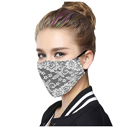 Best Deals! AFROTYE 5PCs General Breathable Multi-Purpose Sexy Cute Washable Lace Mack,Fashion Prote...
