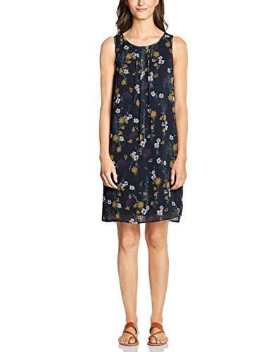 CECIL Damen 142488 Kleid, Mehrfarbig (deep Blue 30128), Medium (Herstellergröße:M)