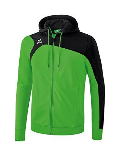 Erima Kinder CLUB 1900 2.0 Trainingsjacke mit Kapuze, green/Schwarz, 152