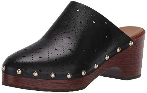Aerosoles womens Clog, Tailored Clog, Black Leather, 5 US