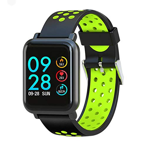 Oyznsb Horloge Smart Watches smartwatch armband band voor mannen vrouwen vrouwen vrouwen meisjes activiteit sport fitness tracker 2.5D scherm Ip68 waterdicht, groen
