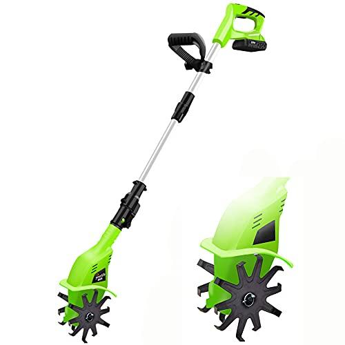 MZBZYU Eléctrica Motoazada, Mini Motocultor, Ancho De Labranza 10.5cm, Profundidad De Labranza 25cm, para Arado De Jardín Labranza del Suelo