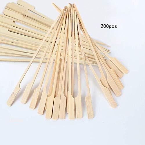 Wohlstand 200 Stück Fingerfood-Spieße,Holzspieße 12 cm,Fingerfood-Spieße Häppchen-Spieße,Naturholzspieße aus Bambus, für Grillgut, Pfanne, Fingerfood und Antipasti